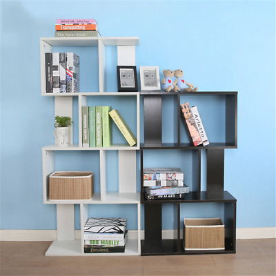 3/4/5 Tiers Wooden Shape Bookcase Stand Rack Office/Home Display Shelf Storage