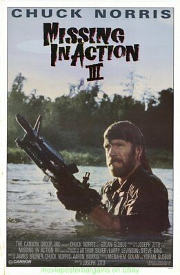 MISSING IN ACTION III MOVIE POSTER Original  1988 RARE Rolled 27x41 CHUCK NORRIS