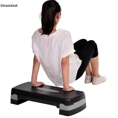 2 Level Aerobic Stepper Adjustable Gym Training Board Exercise Yoga Fitness Step