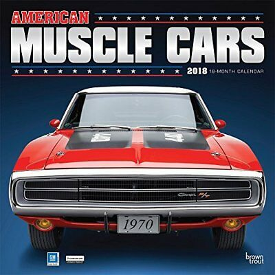 2018 American Muscle Cars Monthly Square Wall Calendar High Quality Printed