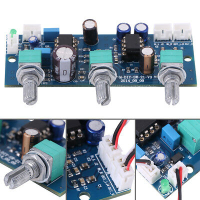 2.1 Channel Subwoofer Low Pass Filter Pre AMP  Pre-Amplifier Board 12~24V DC