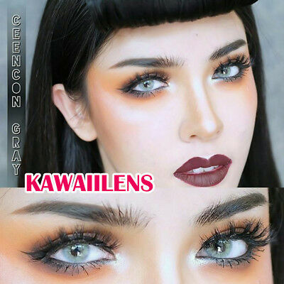 Kontaktlinsen Contact Lenses Color Cosmetic Eye Makeup Lens Ceen Con Light Gray