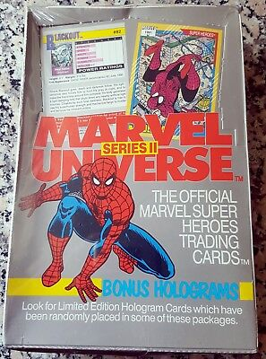 1991 Marvel Universe Series 2 II BRAND NEW FACTORY SEALED BOX Bonus Limited RARE