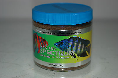 New Life Spectrum Medium Fish Formula 250 gms Tub 2mm pellet Size