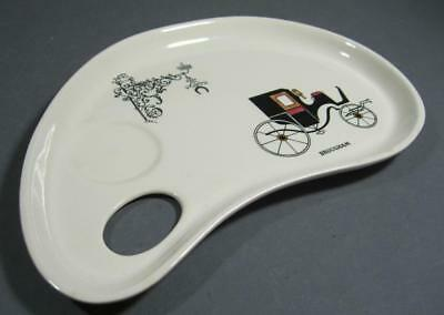 """Vintage deco Clarice Cliff """"Memories of the Past"""" Staffordshire breakfast plate"""