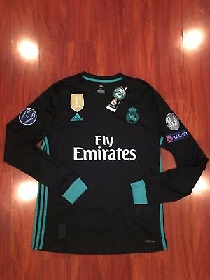 6af53ff2f Real Madrid Away Long Sleeve Jersey Champions League Version Climacool  Official