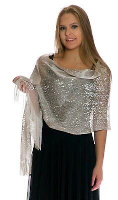 Petal Rose Shawls and Wraps for Evening Dresses - Sheer Bridal Womens Scarves -