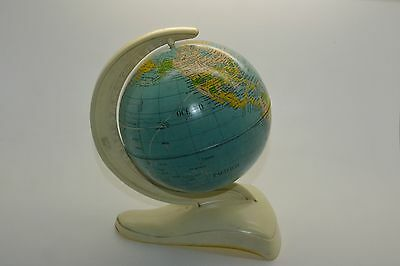 1950's Earth Globe Tin and Plastic Holder Made in Western Germany