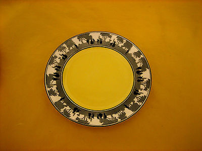 "ART DECO FOLEY CHINA SILHOUETTE PLATEs 6.25"" crazing on one plate  (0.3/410)"