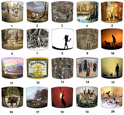 Lampshades Ideal To Match Hunting Scene Wallpaper & Hunting Scene Pictures.