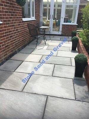 Kandla Grey silver 1m2 900x600 Indian Sandstone Paving Patio Garden slabs 3x2