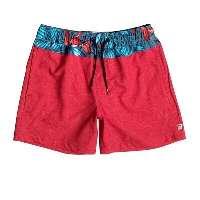 "Short de Bain Inlay 13"" Quik Red Jr - Quiksilver"