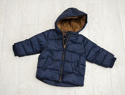 IMMACULATE baby boys 'NEXT' HOODED WINTER COAT Age 9-12 Months