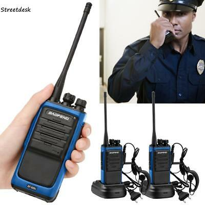 2x Baofeng Walkie Talkie Long Range 2 way Radio UHF 400-470MHZ 16CH in Earpiece