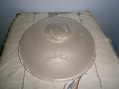 3-Chain Hanging Ceiling Light Fixture Frost Glass Shade Sway Drape Medallion