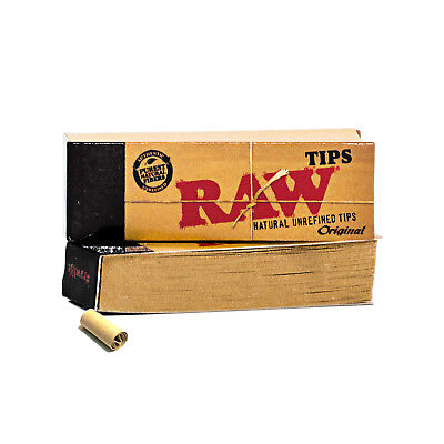 RAW Rolling Paper Roach Filter Tips - RAW Natural Unrefined Roach Book (Cl Free)
