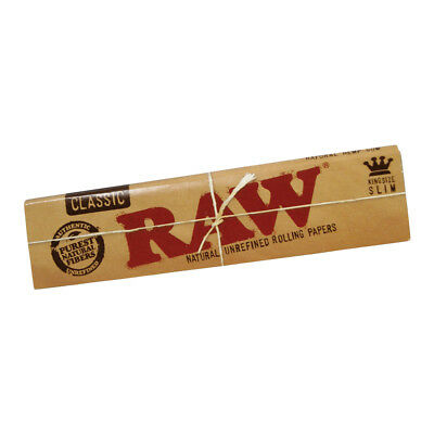 RAW Classic King Size Slim Rolling Papers - 110 mm Natural Unrefined Rizla Paper