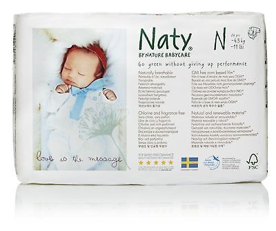 Nature Babycare Eco-Diapers Size-Newborn 26 Count (Pack of 4)
