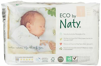 Nature Babycare Eco-Diapers Size-1 26 Count (Pack of 4) Size 1, 104 Count