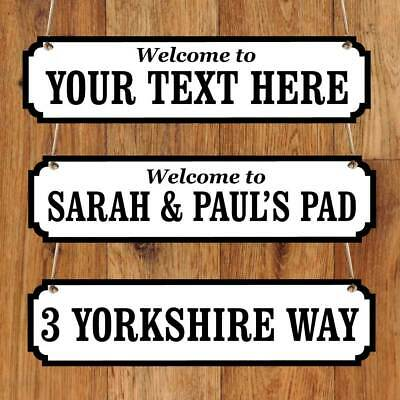 Personalised Family Name plaque, Vintage Custom Road Sign New House warming gift