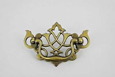 Vintage Chippendale Brass Bat Wing Dresser Drawer Pull Furniture Hardware KBC
