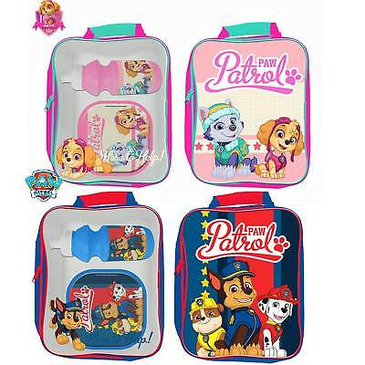 Official Paw Patrol Chase 3D Ears Embroiderd Plush Fleece Front Backpack Bag New