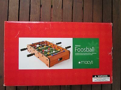 New Miniature Wooden Tabletop Foosball Game- New In Box!