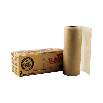 RAW Classic Roll Rips (3m) Paper - Purest Natural Fibre Unrefined Rolling Paper