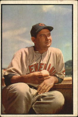 1953 Bowman Color Cleveland Indians Baseball Card #146 Early Wynn - VG