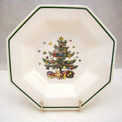 "Nikko CHRISTMASTIME Rimmed Soup Bowl(s) 8 1/8"" x 1 3/4"" CRAZED"