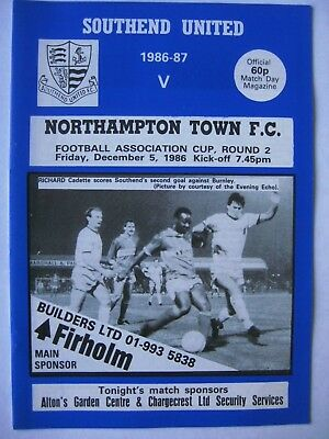 Southend United v Northampton Town 1986/87 FA Cup Programme