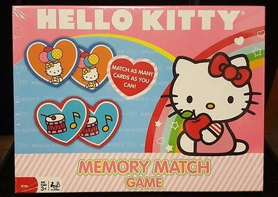 Brand New, SANRIO HELLO KITTY MEMORY MATCH GAME, GIRLS TOY 72 CARDS GAME TOY