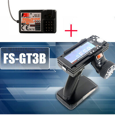 FS-GT3B 2.4G 3CH Radio Model LCD Transmitter + Receiver for RC Auto Boot RC637