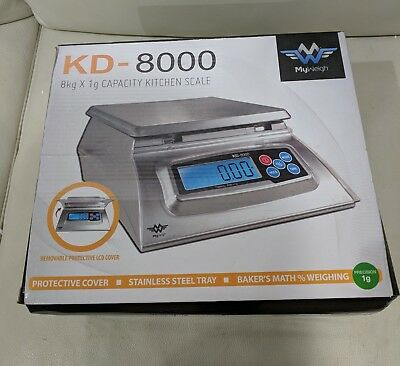 My Weigh KD8000 Bakers Math Kitchen Scale with Tare, Calibration, Hold Feature