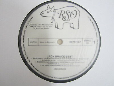 DLP- Jack Bruce ‎– At His ( EX-CREAM )  / MUSTERPLATTE / ARCHIV / MINT / RAR /