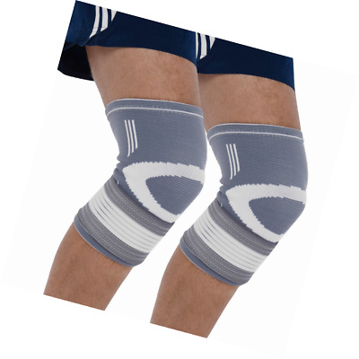 Bionix 2-Pack Compression Knee Sleeves - Best Support Brace For Meniscus Tear, A