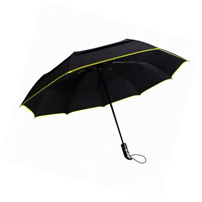 48-Inches Large Windproof Auto Umbrella Open Close Double Canopy Folding Travel