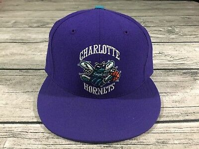 cheap for discount 7a493 533bd Mitchell   Ness NBA Charlotte Hornets Hat Mens 7 ...