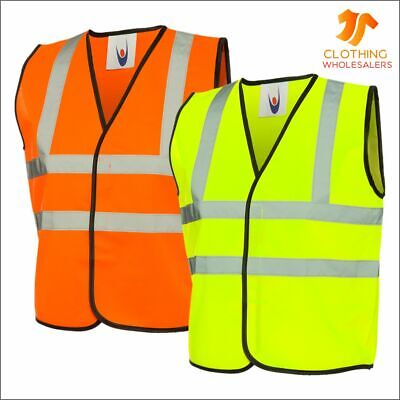 Childrens Hi-Viz Waistcoat Flourescent Safety Reflective Hi-Vis Vest School Trip