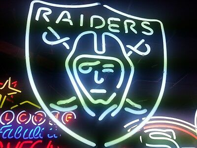 Oakland Raiders Football Neon LARGE 22 inch Sign Brand New