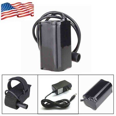 18650 8.4V 6400mAh Rechargeable Battery Pack+Charger for Bike Bicycle Light_US