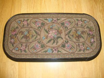 Antique Victorian Large Beadwork/Woolwork Stand c1880