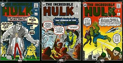 MARVEL Mexico INCREDIBLE HULK #1 - #3 1ST APPEARANCE OF THE HULK FOIL Reprint