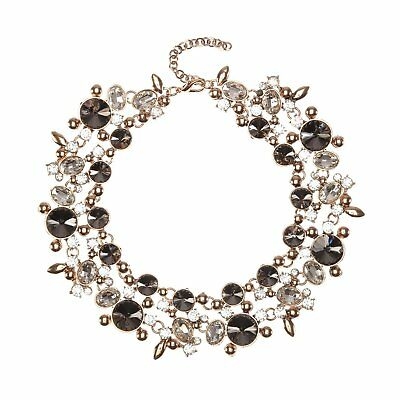 Costume Jewelry for Women Statement Necklace Earrings Grey 1 Set with Holylove