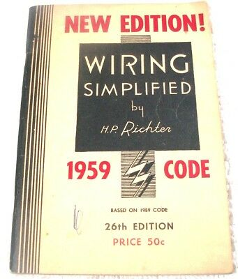 """Wiring Simplified 1959 Code 26th Edition Good Shape 128 Pages 59 Years Old"