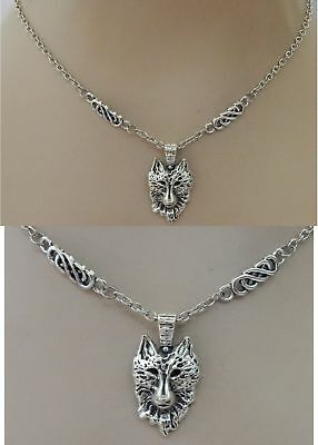 Silver Wolf Pendant Necklace Jewelry Handmade NEW Adjustable Fashion Accessories