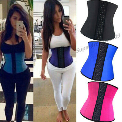 Latex Rubber Sport Waist Training Trainer Cincher Underbust Corset Body Shaper