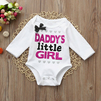 Beautiful Newborn Toddler Infant Baby Girls Letter Print Clothes Jumpsuit Romper