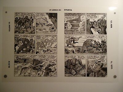 FOREVER PEOPLE # 1 JACK KIRBY & VINCE COLLETTA SPLASH Pgs 16 & 17 PRODUCTION ART