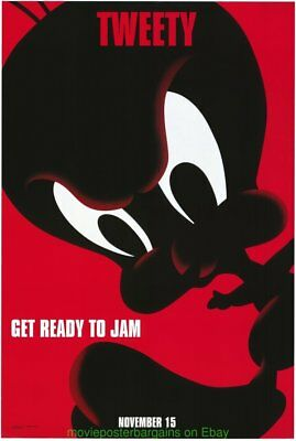 SPACEJAM MOVIE POSTER DS 27x40 Tweety Style Advance MICHAEL JORDAN ANIMATION